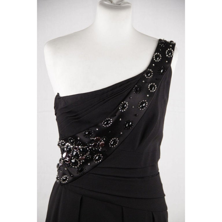Women's Christian Dior One Shoulder Dress Size 6 For Sale