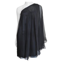 Christian Dior One Shoulder Silk Dress