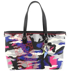 Christian Dior Open Tote Limited Edition Anselm Reyle Camouflage Canvas Medium