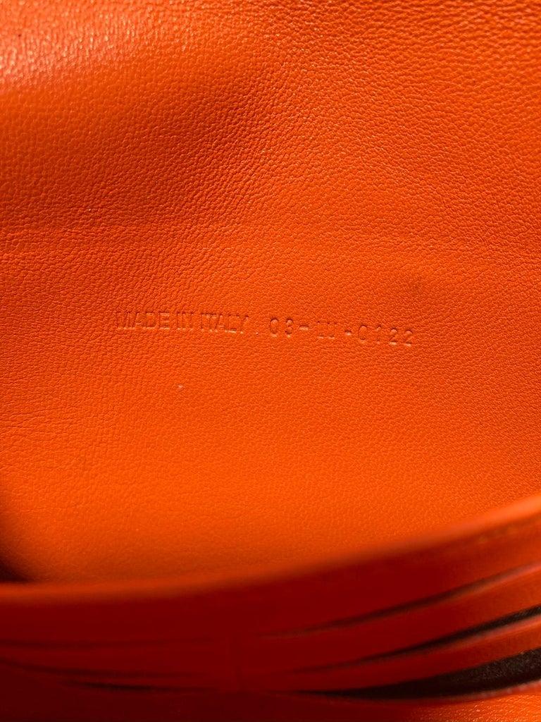 Christian Dior Orange Python Miss Dior Small Flap Bag For Sale 6