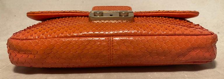 Christian Dior Orange Python Miss Dior Small Flap Bag For Sale 1