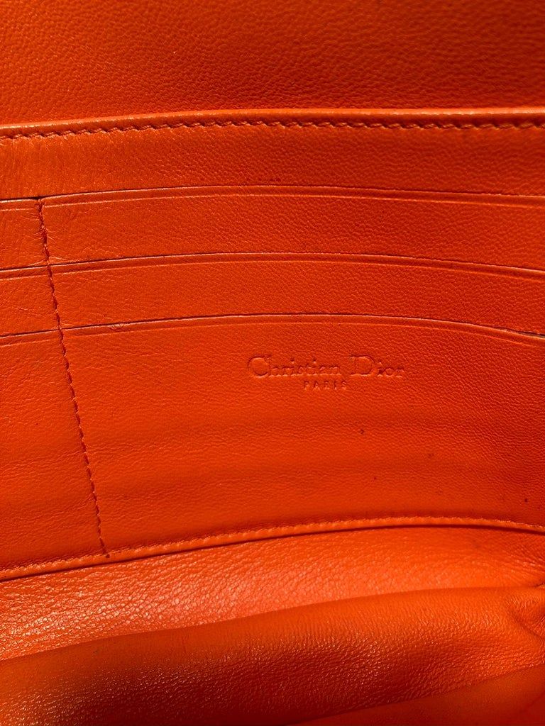 Christian Dior Orange Python Miss Dior Small Flap Bag For Sale 5