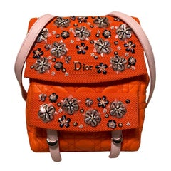 Christian Dior Orange Stardust Backpack