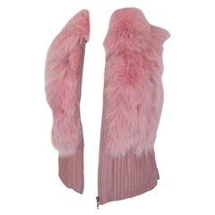 Christian Dior Paris Pink Fox Fur Leather Vest S