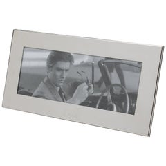 Christian Dior Paris Silver Plate Long Picture Frame