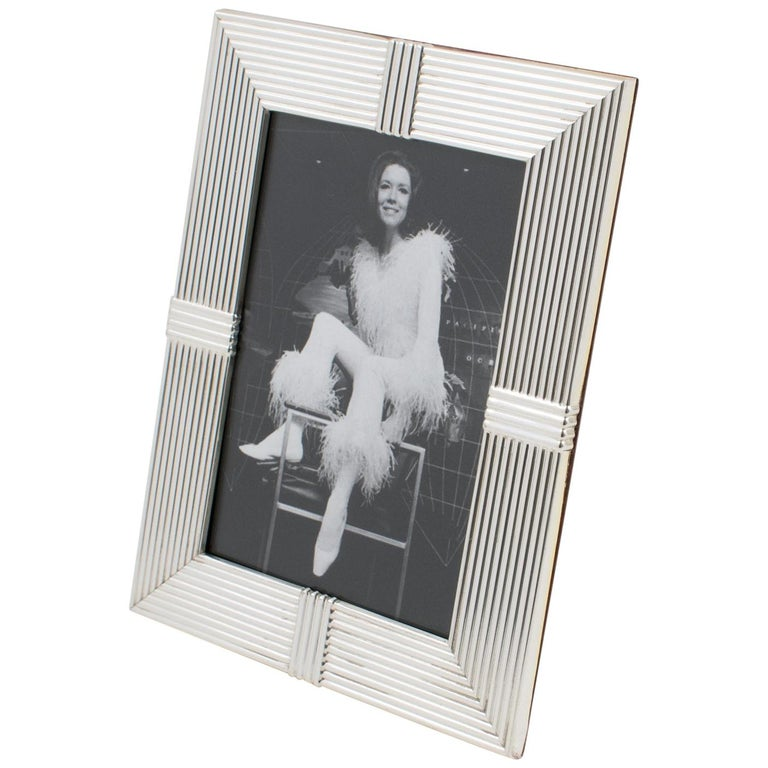 Christian Dior Paris Silver Plate Picture Frame For Sale