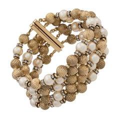 Christian Dior Pearl-embellished Bracelet