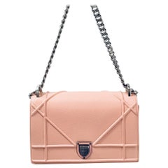 Christian Dior Pink Diorama Crossbody with Silver Hardware