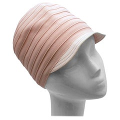 Christian Dior Pink Knit & Lambskin Hat - Size 57