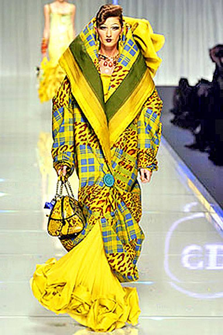 Rare F/W 2004 John Galliano for the House of Dior. This collection featured oversized silhouettes, including the high drama of