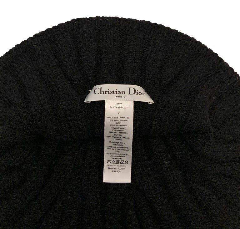 Christian Dior Pre-Fall 2019 Arty Heather Knit Tulip Hat For Sale 3