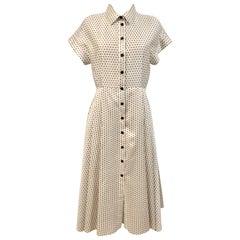 Christian Dior Pre-Fall 2020 Polka Dots Silk Dress