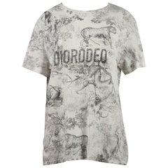 Christian Dior Printed Cotton & Linen Blend T-Shirt