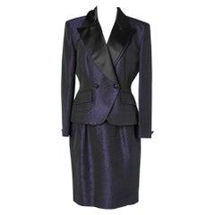 Christian Dior purple and black cocktail dress- suit
