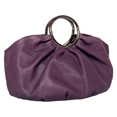 Christian Dior Purple Leather Babe Bag, 2008
