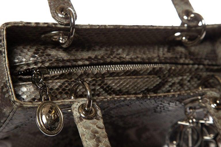 CHRISTIAN DIOR  Python Lady Dior Bag For Sale 5