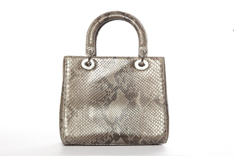 CHRISTIAN DIOR Python Lady Dior Bag For Sale at 1stdibs 915feb9f0b9d6
