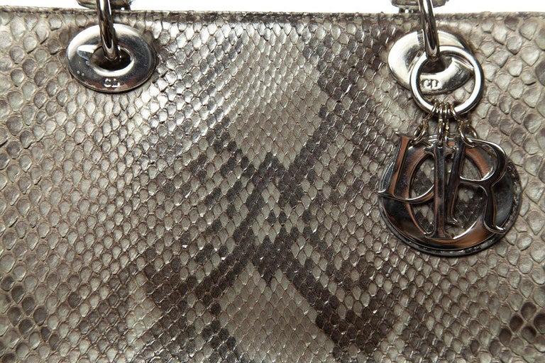 CHRISTIAN DIOR  Python Lady Dior Bag For Sale 1