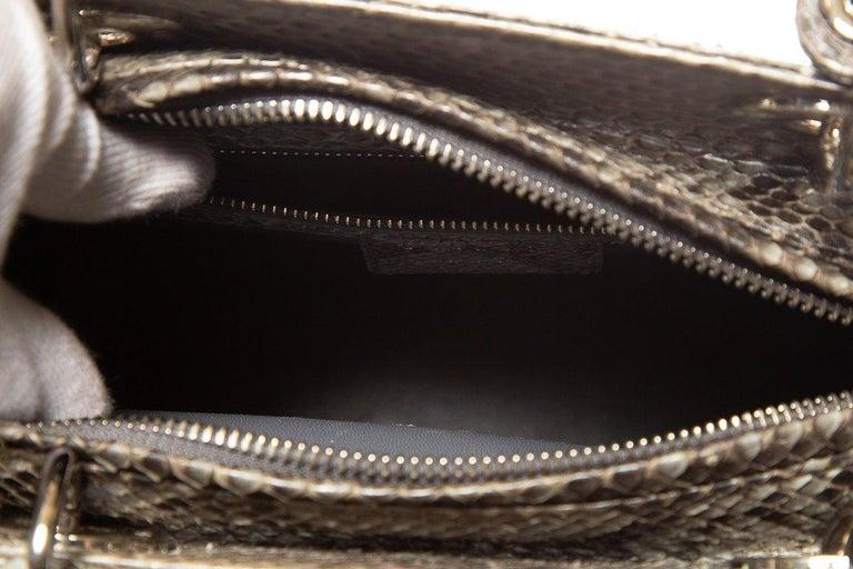 CHRISTIAN DIOR  Python Lady Dior Bag For Sale 3