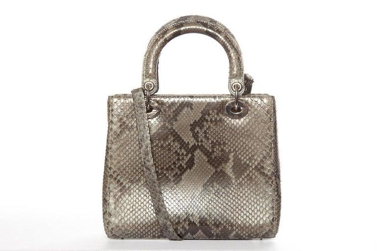 CHRISTIAN DIOR  Python Lady Dior Bag For Sale 4