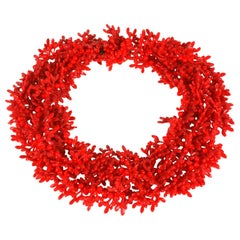 Christian Dior Red Coral Mistletoe Necklace
