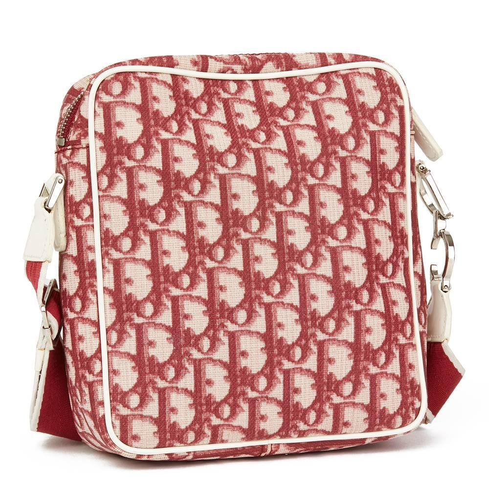c09749dc5bd5 Womens christian dior red monogram coated canvas no crossbody bag for sale  jpg 768x768 Pink dior