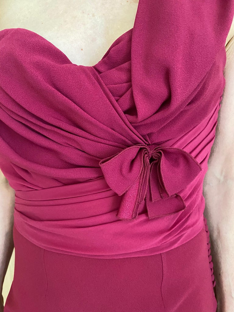 Christian Dior Red Pink Gown For Sale 6