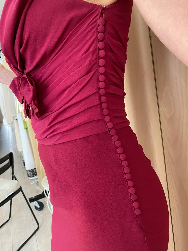 Christian Dior Red Pink Gown For Sale 2