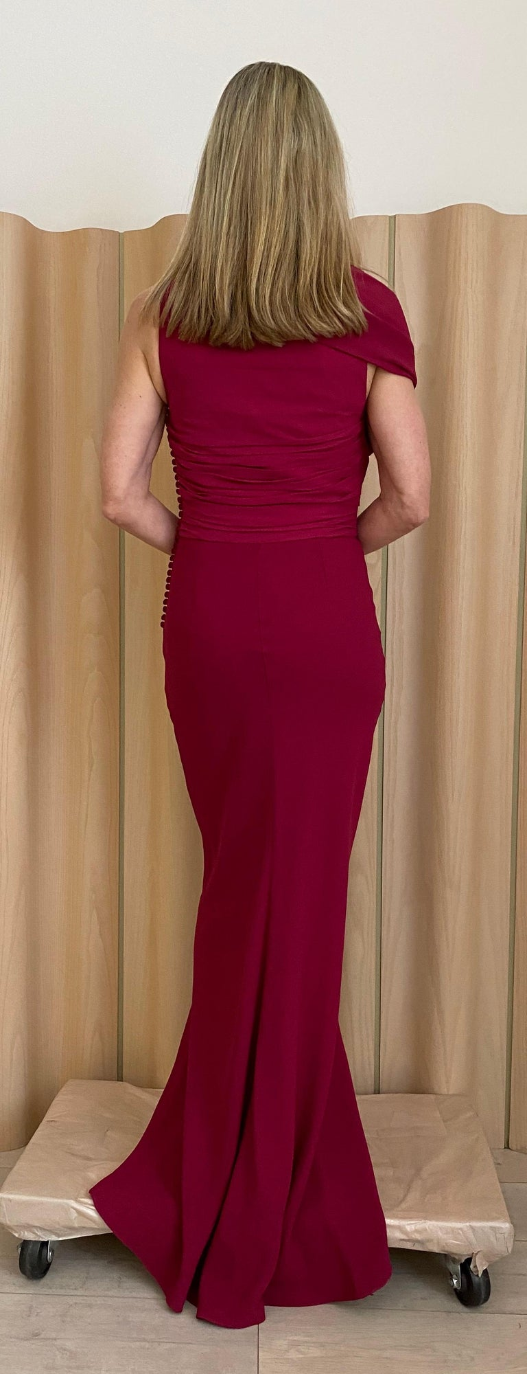 Christian Dior Red Pink Gown For Sale 3