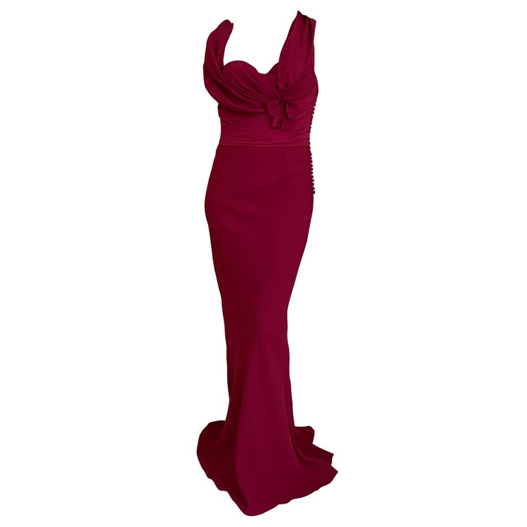 Christian Dior Red Pink Gown For Sale