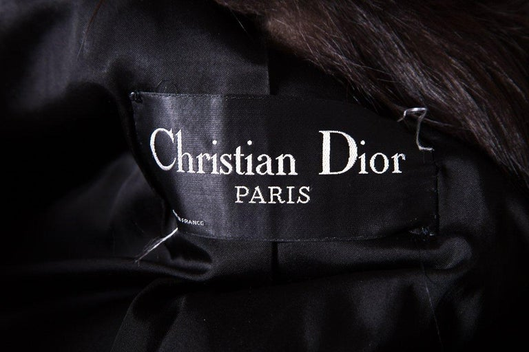 CHRISTIAN DIOR  Red Russian Fox Fur Coat For Sale 1