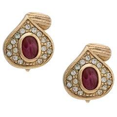 Christian Dior Red Tear Earrings