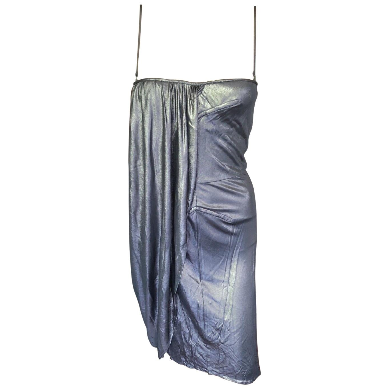 Christian Dior Resort 2007 Runway Metallic Draped Dress