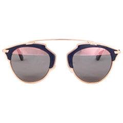 CHRISTIAN DIOR rose gold SO REAL Sunglasses blue Lenses U5WZJ