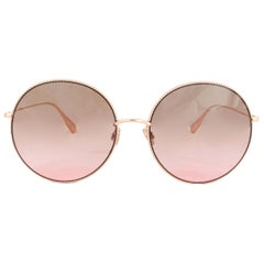 CHRISTIAN DIOR rose gold SOCIETY F2 Sunglasses gradient brown Lenses DDB86