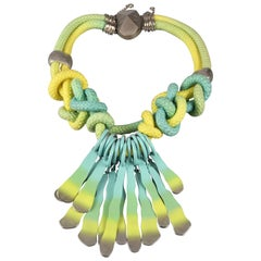 CHRISTIAN DIOR S/S2011 Bold and Colorful Cord Enamel Charm Necklace