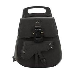 Christian Dior Saddle Backpack Leather Mini
