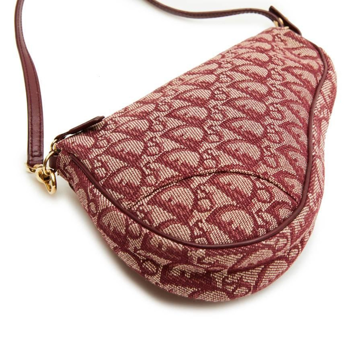 dcf8f06ac8dd CHRISTIAN DIOR  Saddle  Bag in Bordeaux Monogram Canvas at 1stdibs