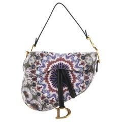 Christian Dior Saddle Handbag Beaded KaleiDiorscopic Calfskin Medium