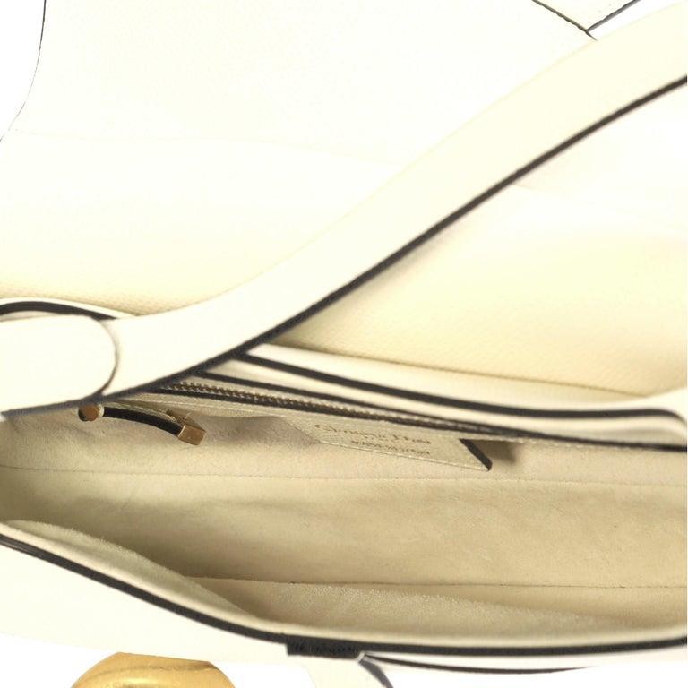 Christian Dior Saddle Handbag Leather Medium At 1stdibs