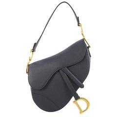 Christian Dior Saddle Handbag Leather Medium