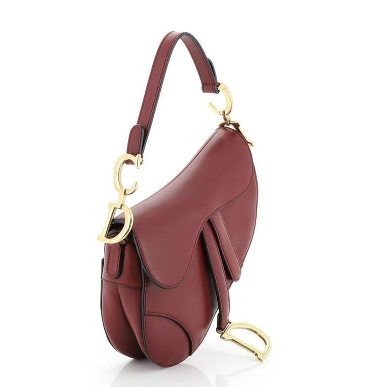 Christian Dior Saddle Handbag Leather Mini  In Good Condition For Sale In New York, NY