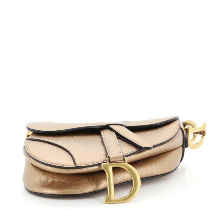 Women's or Men's Christian Dior Saddle Handbag Leather Mini For Sale
