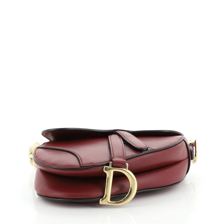 Christian Dior Saddle Handbag Leather Mini  For Sale 1