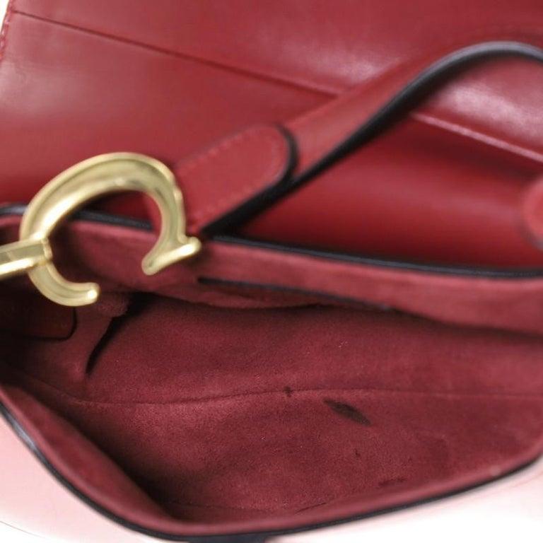Christian Dior Saddle Handbag Leather Mini  For Sale 2