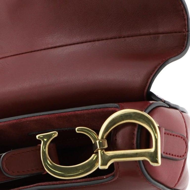 Christian Dior Saddle Handbag Leather Mini  For Sale 3