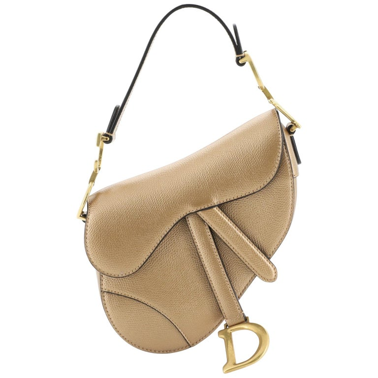 Christian Dior Saddle Handbag Leather Mini For Sale