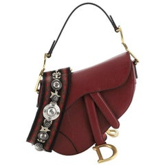 Christian Dior Saddle Handbag Leather Mini