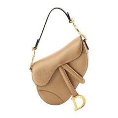Christian Dior Saddle Handbag Leather Mini