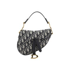 Christian Dior Saddle Handbag Oblique Canvas Mini